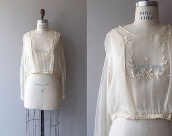 Plein Air blouse | vintage 1920s blouse | silk 20s blouse
