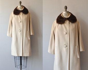 Lilli Ann coat | vintage 60s fur collar coat | wool 1960s coat