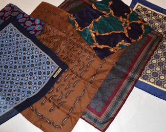 Vintage Men's Pocket Square Collection of Six