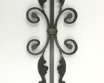 Wrought Iron Stem for Glass Garden Flowers - #4
