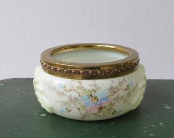 Antique Wave Crest Pin Jar