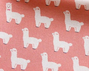 Animal Print Fabric By The Yard - Cotton Fabric - Alpacas or Llamas - Half Yard