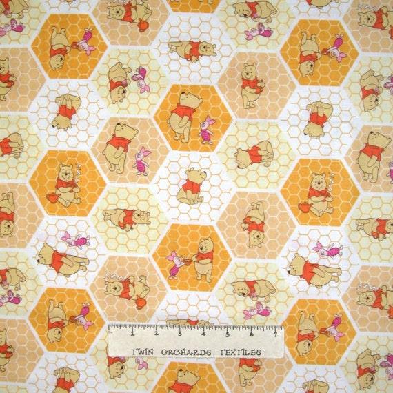 Winnie the pooh nursery baby fabric honeycomb hexagon for Yellow baby fabric