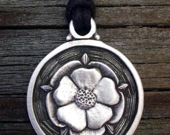 Tudor Rose Pewter Pendant