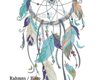 "Dreamcatcher Nr.3 Doodle 6.2x10.2"" 16x26 cm Machine Embroidery Design"