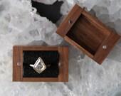 Handcrafted Black Walnut Ring Box