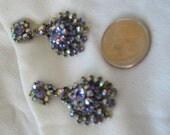 Vintage costume jewelry, chandelier earrings, cut glass earrings, cosplay earrings