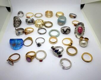 Large Lot of Vintage Rings - 29 rings.