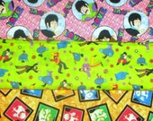BEATLES   fabrics, sold individually,not as a group, sold by the Half Yard, please see body of listing