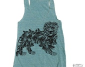 Womens LION american apparel Tri-Blend Racerback Tank Top S M L (+ Color Options)
