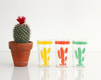 Vintage Homer Laughlin Hacienda Cactus Go Along Optic Glasses