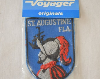 sale Vintage ST. AUGUSTINE FLORIDA embroidered fabric patch Voyager Original new in package