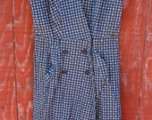 Joanne - vintage 1950's wide collar dress M L handmade OOAK