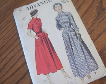 1950's Advance Dress Pattern 5221