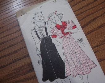 1940's New York Woman's World Pattern - Skirt Blouse and Bolero