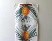 vera Neumann pineapple tea towel vintage linen ladybug signature