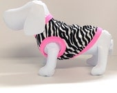Ships FREE! Zebra and Pink Dog Tank Top