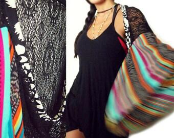 Dream Catcher Crochet Net Boho Kimono Shrug