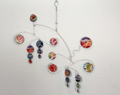 Hanging Mobile Hand Painted Circle Kinetic Mobile Sculpture - 24w x 27t - Ready to Ship 102415-1