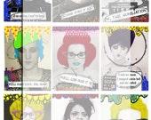 Artist Trading Card..... Mug Shot A4 digital download collage sheet...
