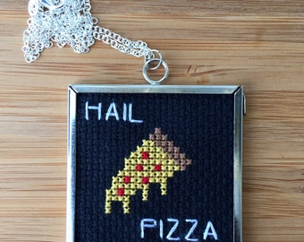 Hail Pizza necklace