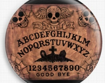 Needle Minder, Ouija Board, Cross Stitch Keeper, Scissor minder, Fridge Magnet, Licensed Art By Shayne of the Dead