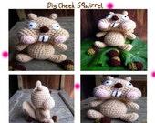 Instant Download Amigurumi Crochet PDF Pattern - Big Cheek Squirrel