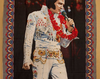 Hawaiian Elvis Large Wall Tapestry