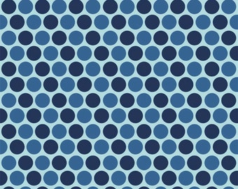 COUPON Code Sale - Pieces of Hope 2, Dots, Blue, Riley Blake Designs, 100% Cotton Quilt Fabric, Autism Awareness, SELECT A SIZE