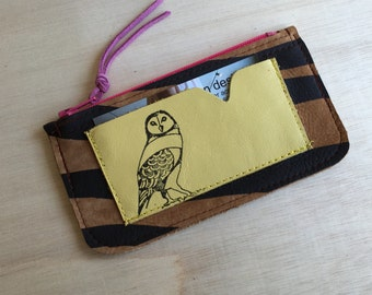 Owl Leather coin Pouch
