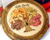 Custom Designed Family Tree Unity Ceremony Wedding Puzzle Unity Ceremony Alternative  Personalized Blended Family Wedding Gift