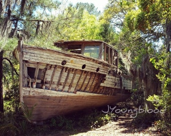 Photograph: Square Photo of Abandoned Boat