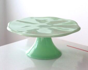 Jadite Jadeite Cake Pedestal Cake Plate Cake Stand