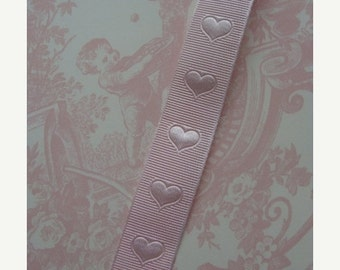 BIG SALE 2 Yards Sweetest Pink Heart Ribbon