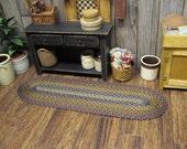 Miniature Dollhouse Braided Rug Hand Braid Runner