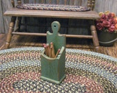 Dollhouse Miniature Match Box Pipe Holder Candle Primitive Utensil Wall Box