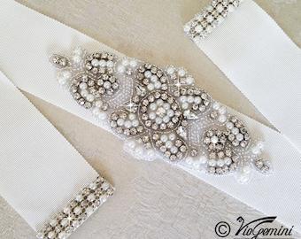 Bridal Sash Belt, Bridal Sash Vintage, Wedding Sash Belt Vintage, Crystal Wedding Belt, Crystal Bridal Sash, Pearl Wedding Belt
