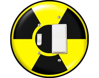 Radioactive Sign Toggle and Decora Rocker Switch Plate Cover