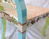 Whimsical Painted Chairs ( matching pair reserved for Sandie)
