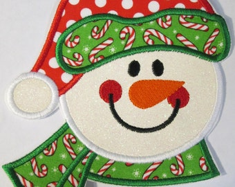 Christmas Snowman Iron On Applique