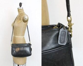 80s Coach Purse / 1980s Vintage Leather Companion Shoulder Bag / New York City Crossbody