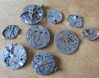 Featured - Steampunk supplies - Watch movements - Vintage Antique Watch movements Steampunk - Scrapbooking v6