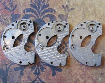 Vintage Antique metal pocket Watch parts - Steampunk - Scrapbooking p4