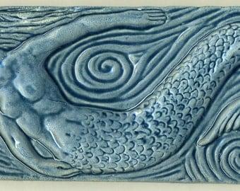 Frisky Blue Mermaid Tile