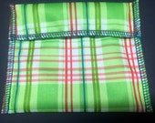 Pleasant Plaid Tuckables Pouch, Small (4 x 4.5) - Cloth Menstrual Pads, Wipes, Snacks, & more