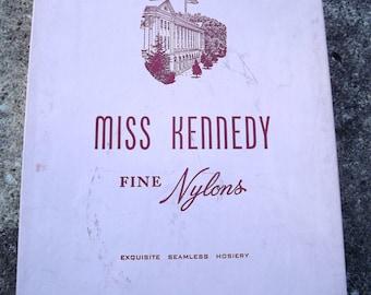 Vintage Miss Kennedy Fine Nylons  Hosiery Nylon Stockings 6 pair  Spice 10 1/2