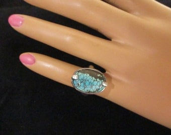 Turquoise Ring Sterling Size 4