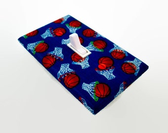 Basketball Light Switch Cover - Basketballs Sports Theme Switchplate - Boys Bedroom Decor - Basketball Decor - Outlet Cover - Sports Decor