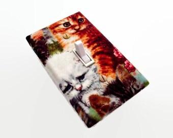 Cat Light Switch Cover - Kittens Cats Switchplate Cover - Cat Lover's Bedroom - Cat Switch Plate - Cat Room Decor - Girls Bedroom Decor