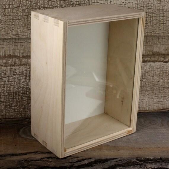 Ikea Shadow Box Unfinished Box 7 1 2 X 5 1 2 Glass Wood